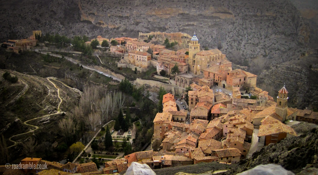 Looking down over Albarracin from the surrounding wall