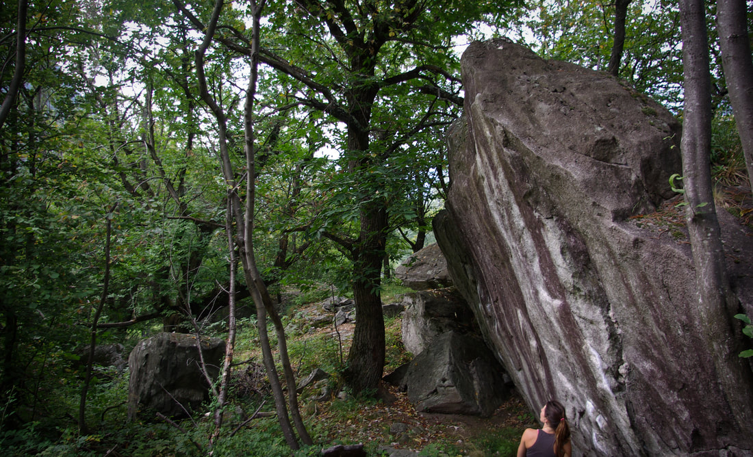 Chironico bouldering in Ticino, Switzerland