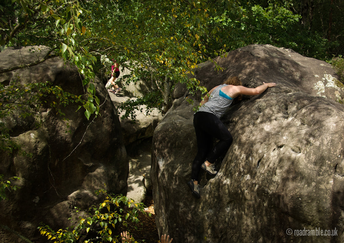 Liz topping out at Canche aux Merciers.