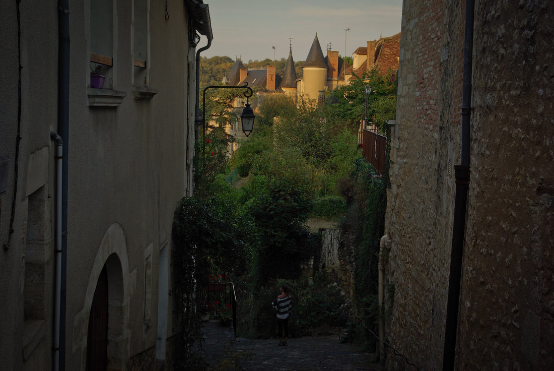 Walking the old cobbled streets of Angles-sur-l'Anglin