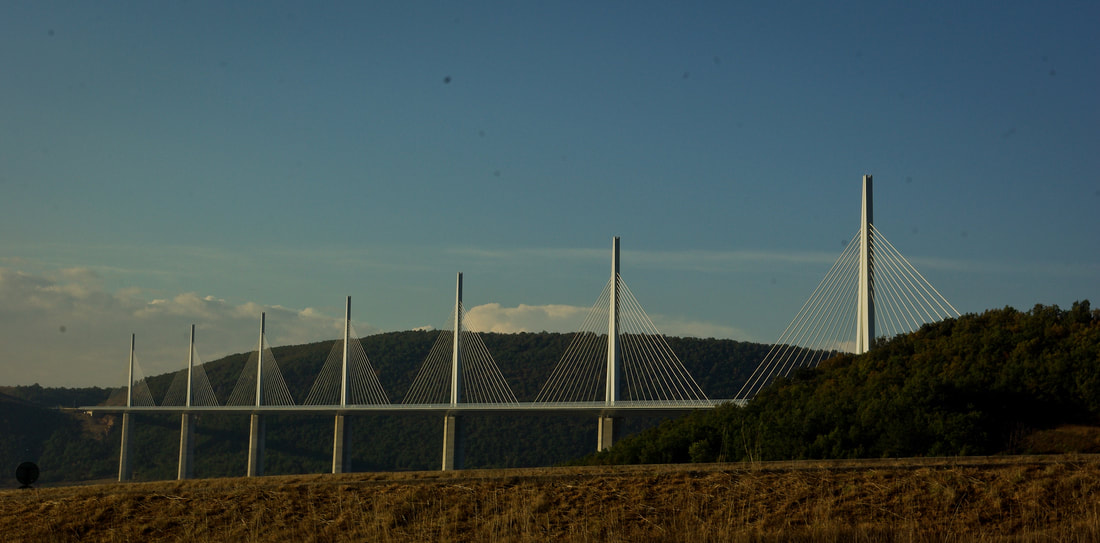 Morning sun on the Millau Viaduct