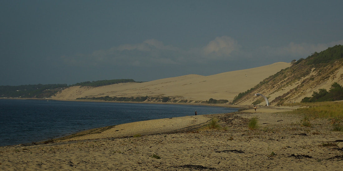 Looking across the beach to the massive Dune du Pilat