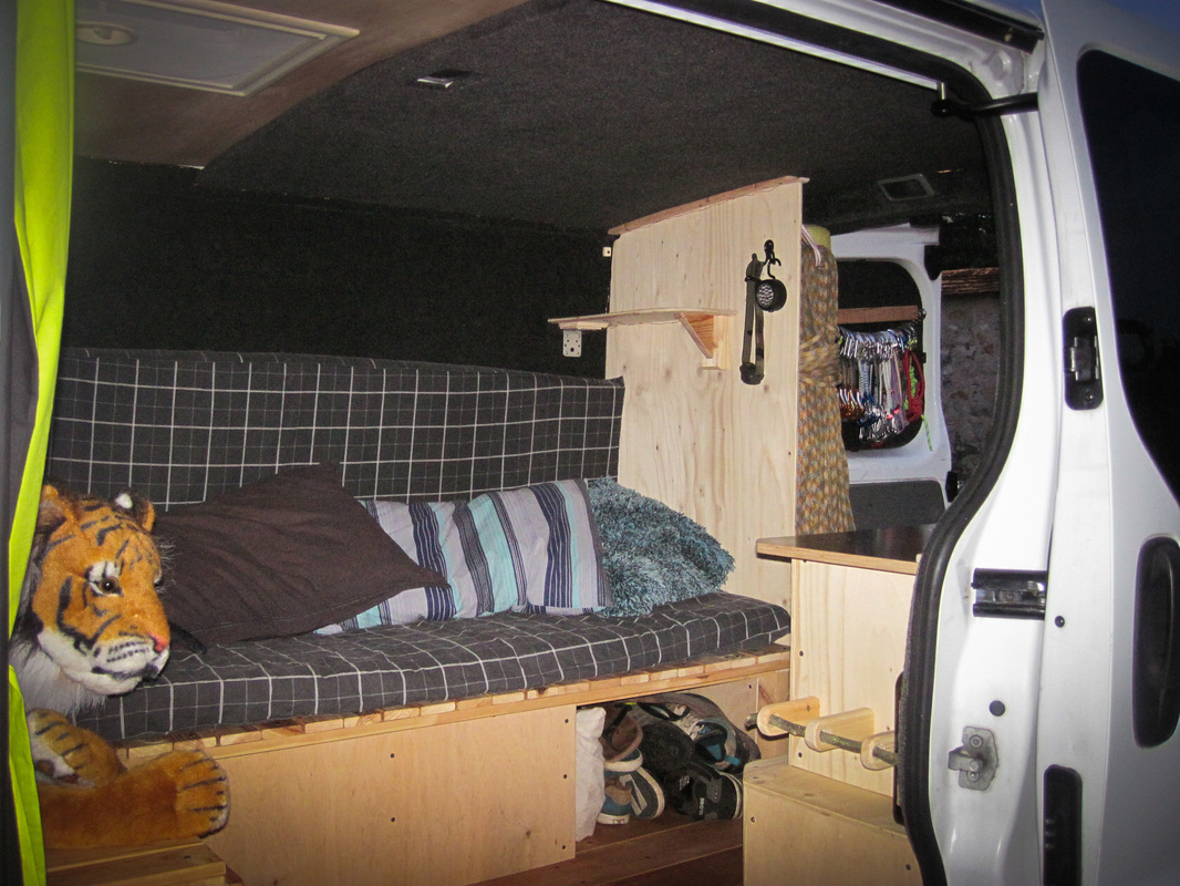 converted renault trafic ready for the road