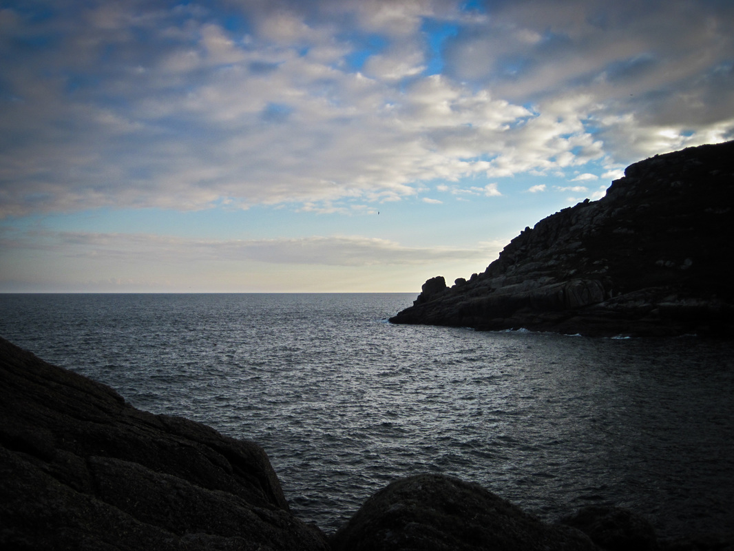 Last light at Penberth cove
