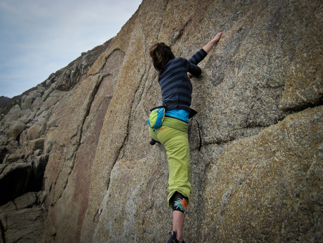Penberth granite climbing