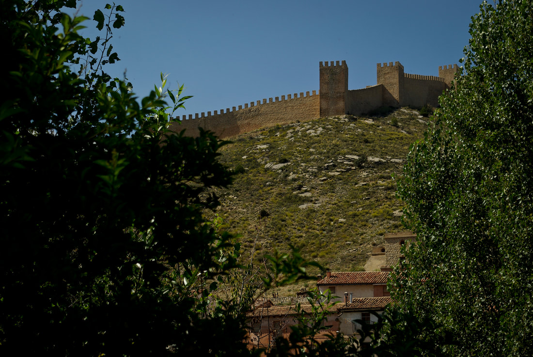 The Great Wall of Albarracin, through the trees